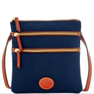 Dooney & Bourke Triple Zip Nylon Crossbody NWOT